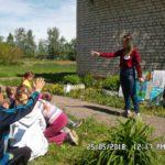 Участники квеста в Дубравской сельской библиотеке