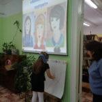Создание маминого портрета в Центральной детской библиотеке